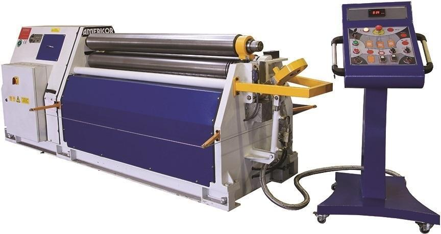 "7.08"" Diameter x 6 ft NEW Americor Hydraulic 4-Roll Double Pinch Plate Bending Roll Model 4RDP 180/6"