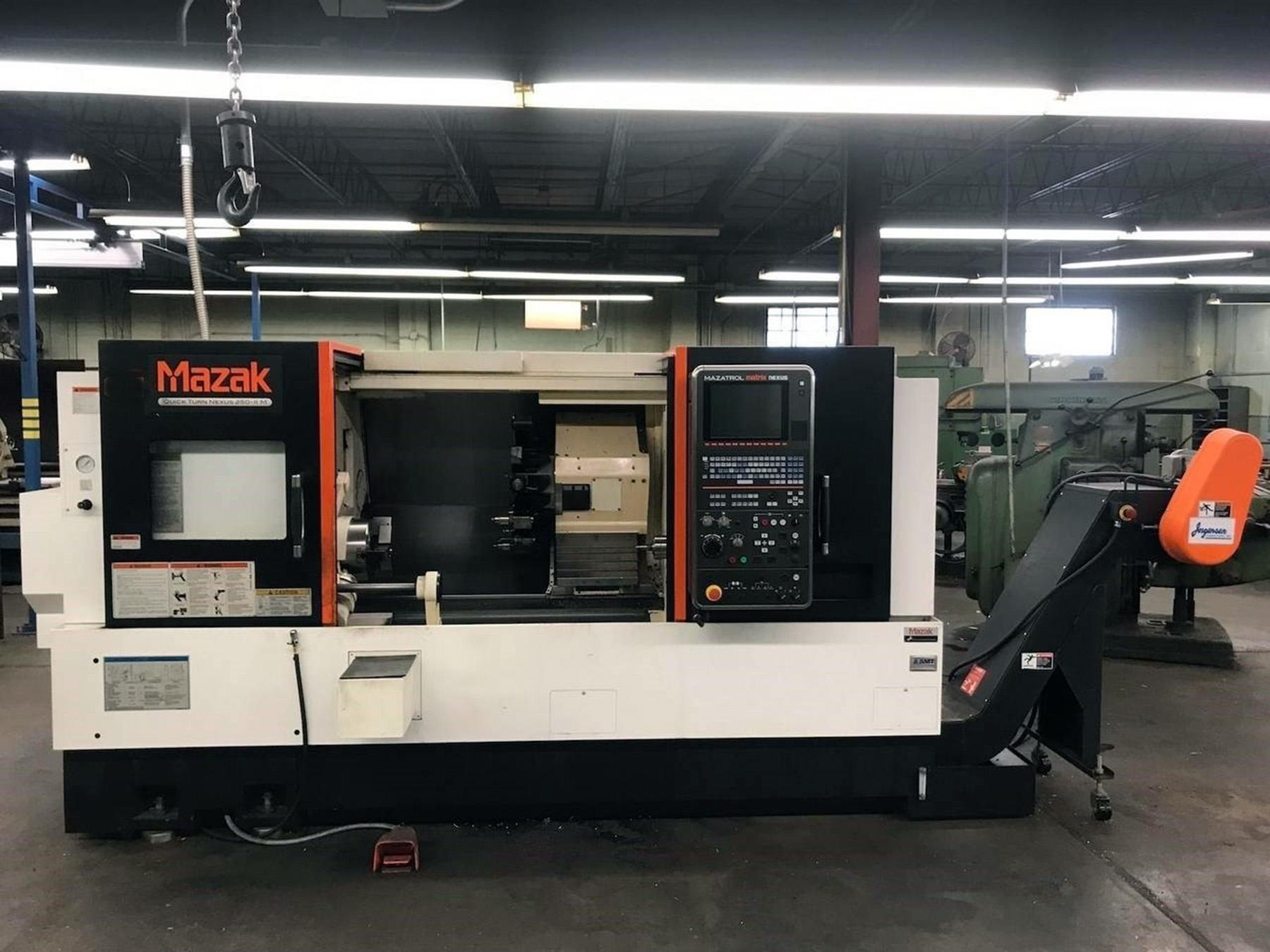 USED, MAZAK QTN 250M-II CNC TURNING CENTER WITH MILLING