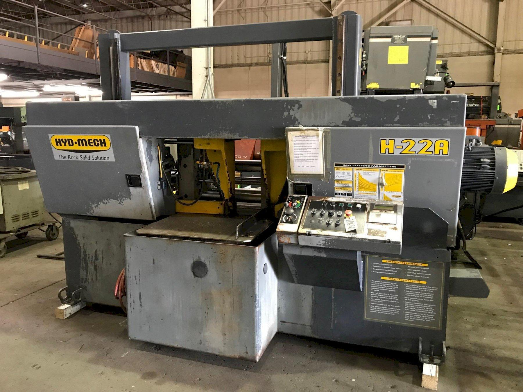 "22"" X 22"" HYD-MECH MODEL H-22A AUTOMATIC HORIZONTAL BAND SAW"