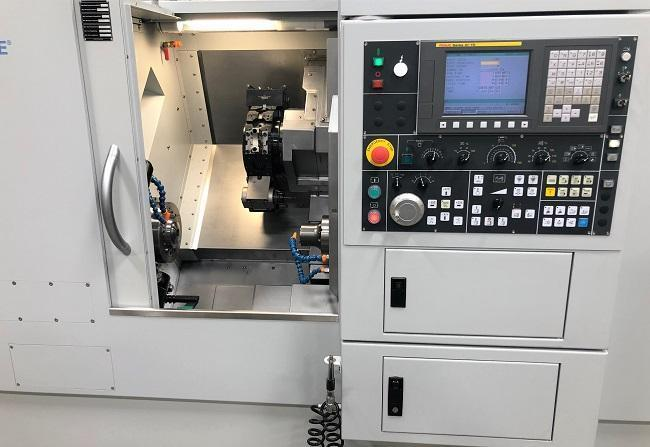 "HARDINGE GS-51MS, Fanuc Oi CNC Control, Collet Chucks on Main & Sub Spindle, 18"" Max Swing, 10"" Machining Diameter, 16"" Machining Length, 2"" Thru Hole, 5000 Max Main Spindle RPM, 6000 Max Sub-Spindle RPM, C-Axis, Rigid Tapping, New 2016."