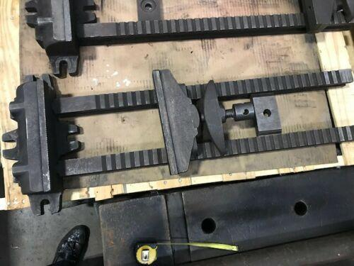 "10"" x 24"" Capacity Vintage Large Machine Vise. Mill Part Clamping Machine Vise"