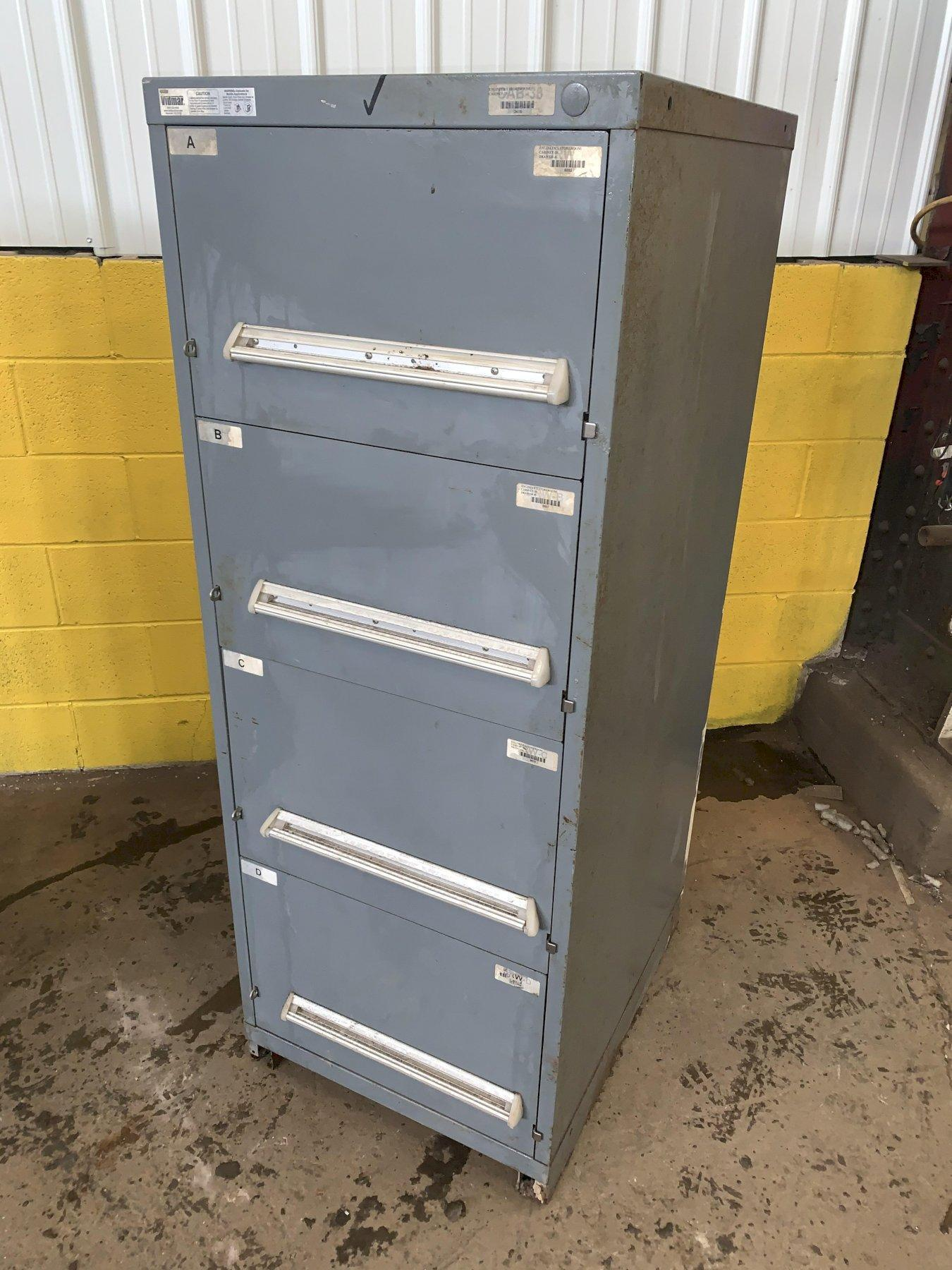 "4 DRAWER 22.5"" x 28"" x 59"" VIDMAR TOOL STORAGE CABINET"