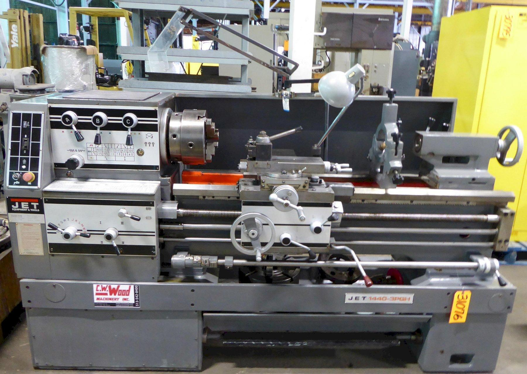 14″ x 40″ Jet Lathe, Gear Head, Gap Bed, Well Tooled, Excellent