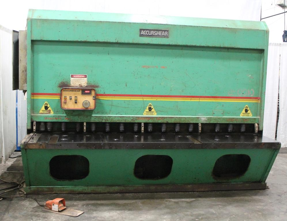 "10' X 1/2"" ACCURSHEAR HYDRAULIC SHEAR: STOCK #10895"
