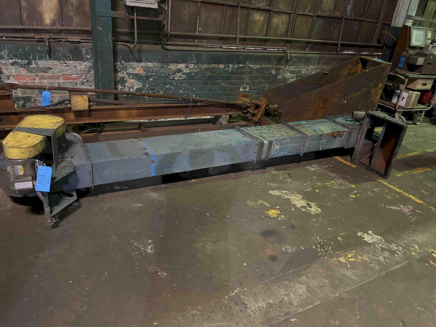 bucket elevator and hopper for palmer m50 mixer, 12' center to center 14' overall