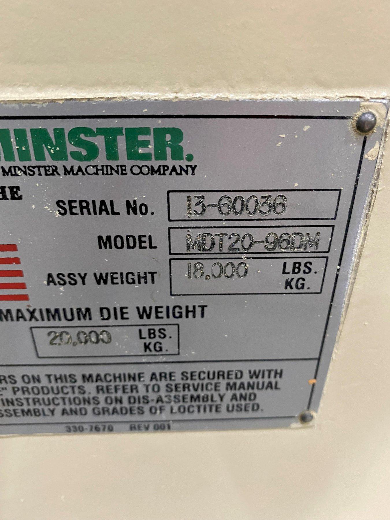 20,000 LB MINSTER MODEL MDT20-96M DIE CART