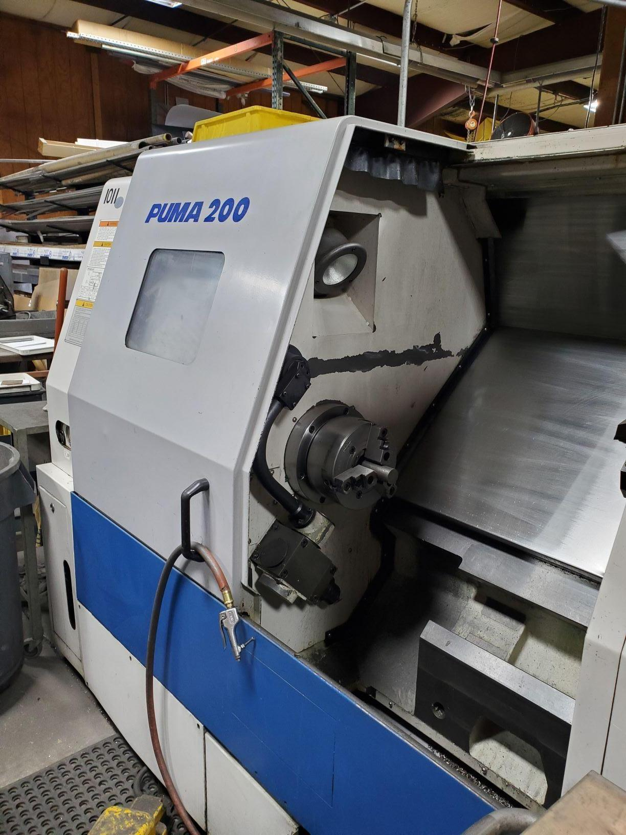 DAEWOO PUMADaewoo Puma 200LC CNC Lathe, Fanuc 18T, Tailstock, Collet Pad System, Chip Conveyor,