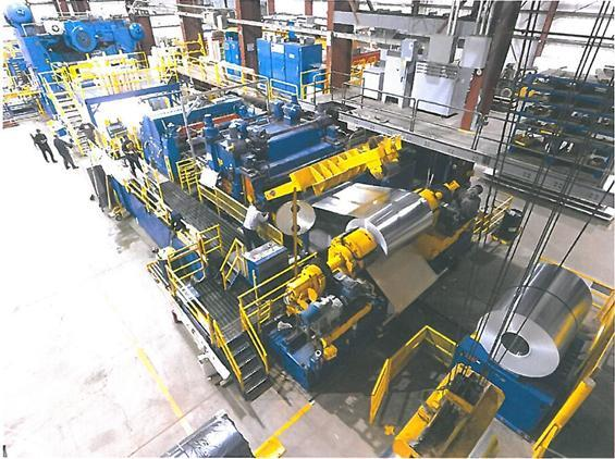 """110"""" x .500""""  Blanking Line Featuring 600 Ton Danly Press, Automatic Feed / Herr Voss Feed Line and Atlas Stacking System"""