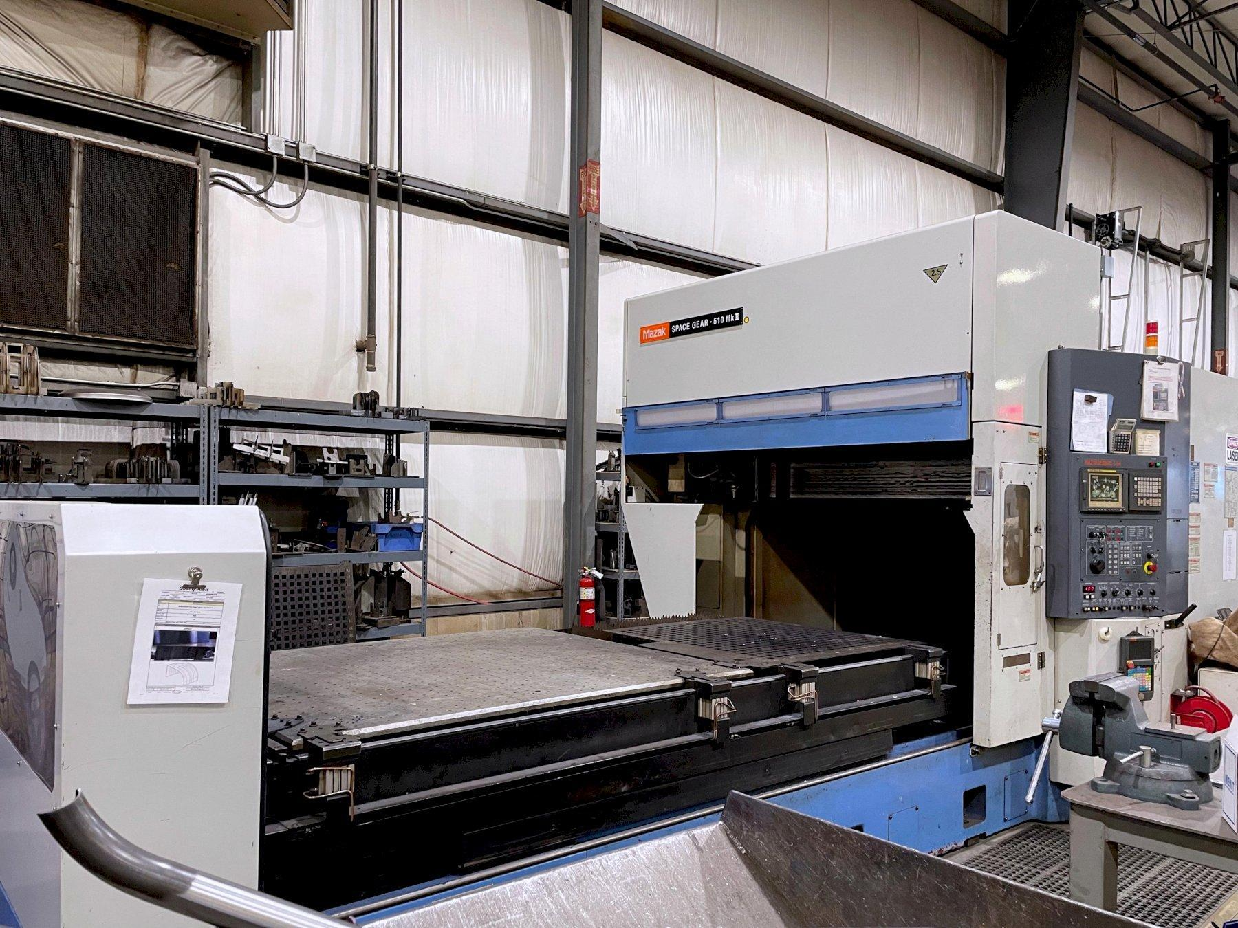 Mazak Space Gear 510 MKII (2003) 6 Axis w/Rotery Unit and Extended Z Axis CO2 Laser