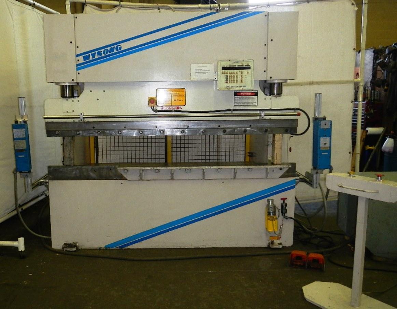 60 Ton x 8 Ft. Wysong CNC Hydraulic Press Brake Model THS60-96