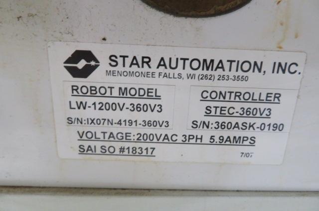 Star Used LW-1200V-360V3 Full Servo Robot, Yr 2007