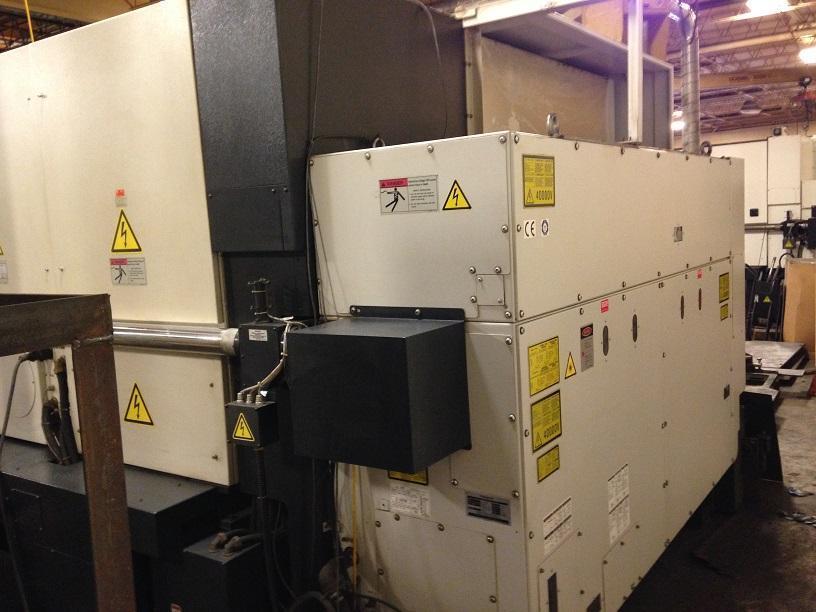 2,500 Watt, Mazak Space Gear CO2 Laser Model U-44, 4 ft x 4 ft table