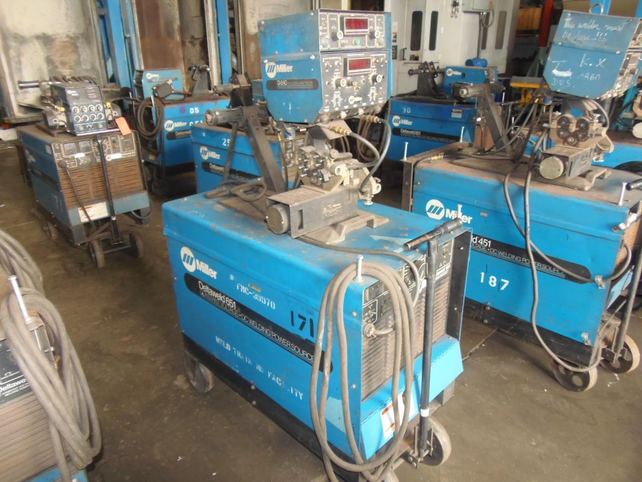 Miller 650 Amp Wire Feed Welder, model Deltaweld 651 with D54 feeder