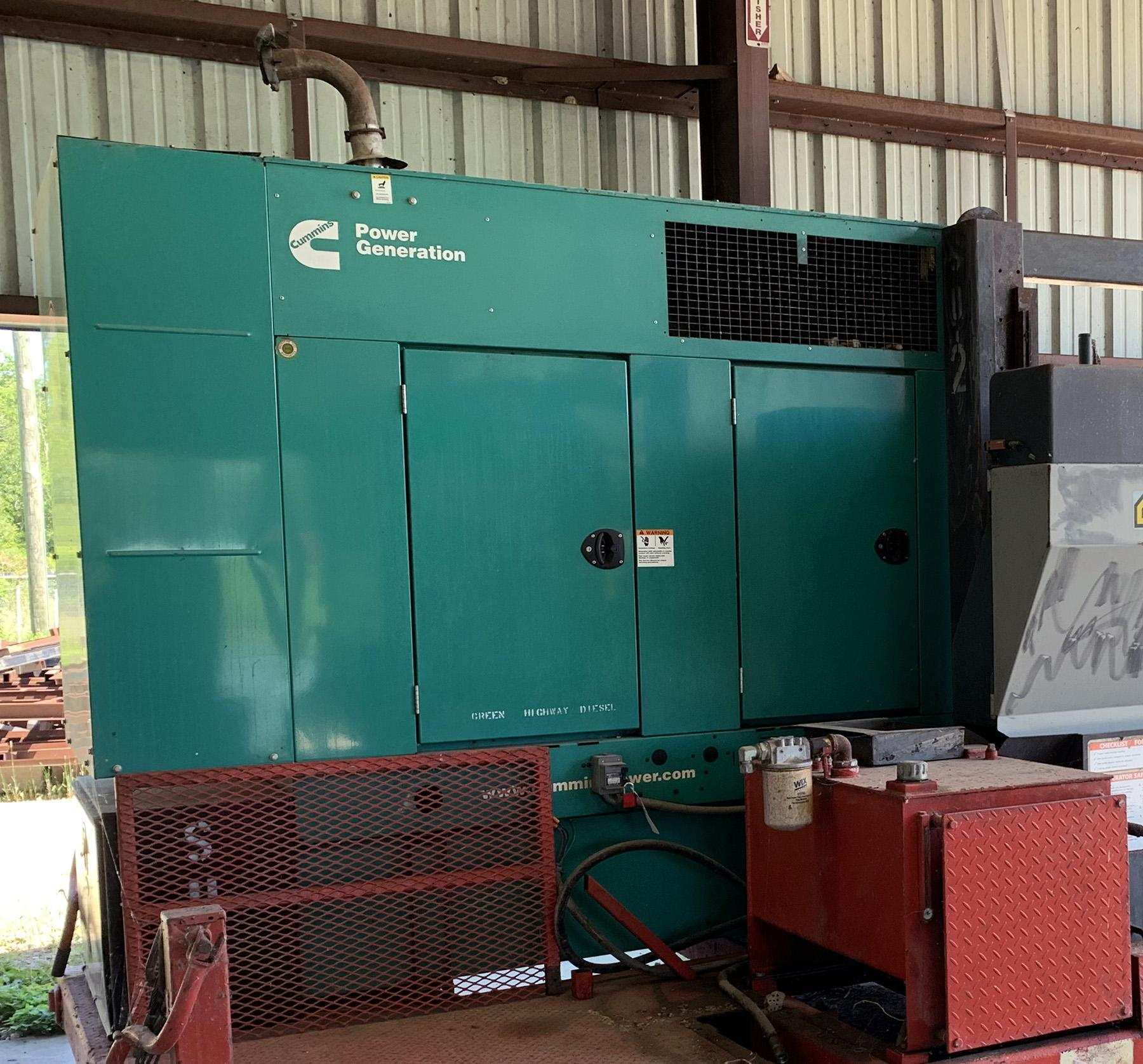 USED, CUMMINS 35 KW DIESEL POWERED GENERATOR SYSTEM