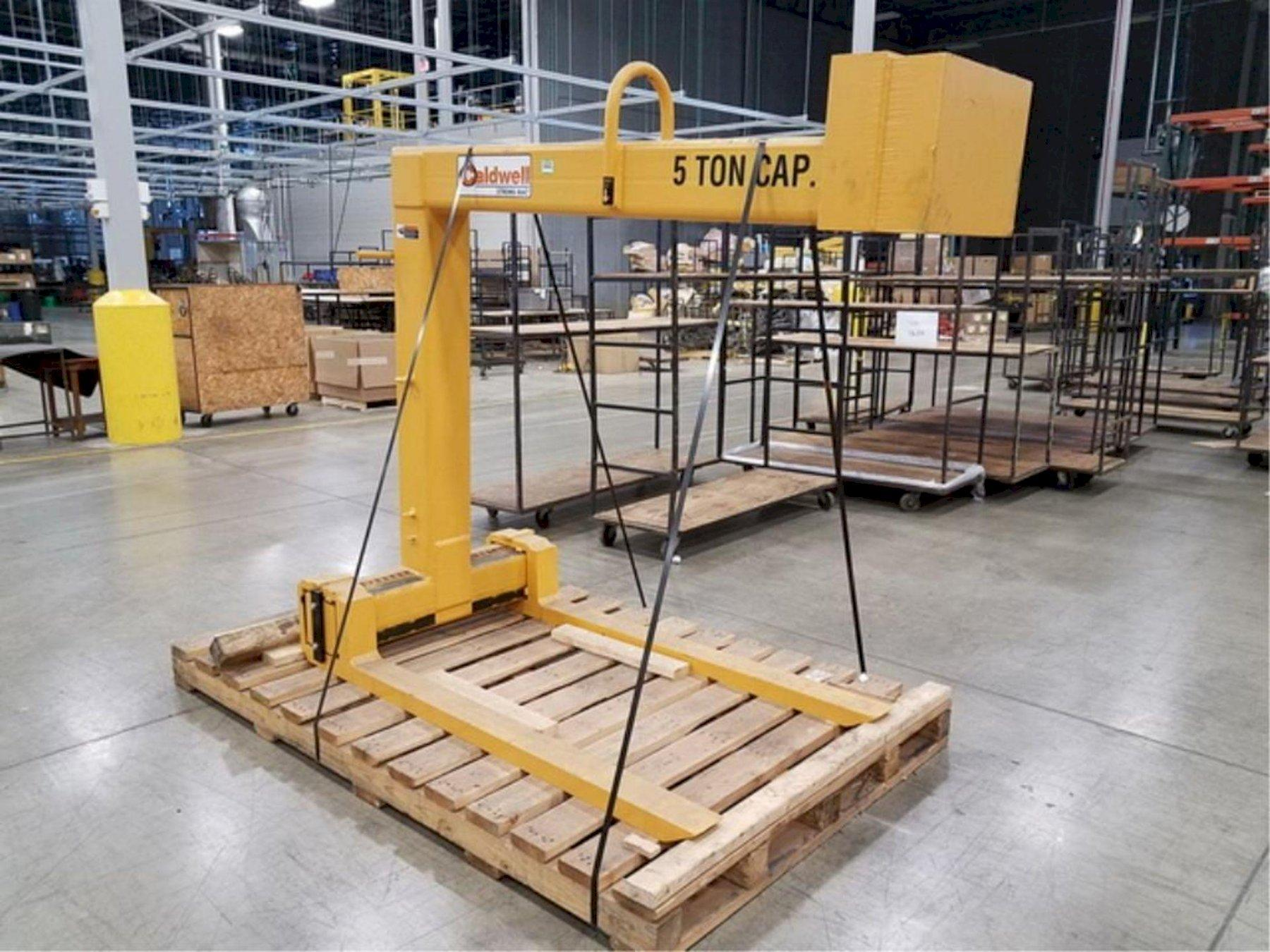 NEW Caldwell Model# 91-5-60 Standard Adjustable Forks Pallet Lifter 5-Ton Capacity