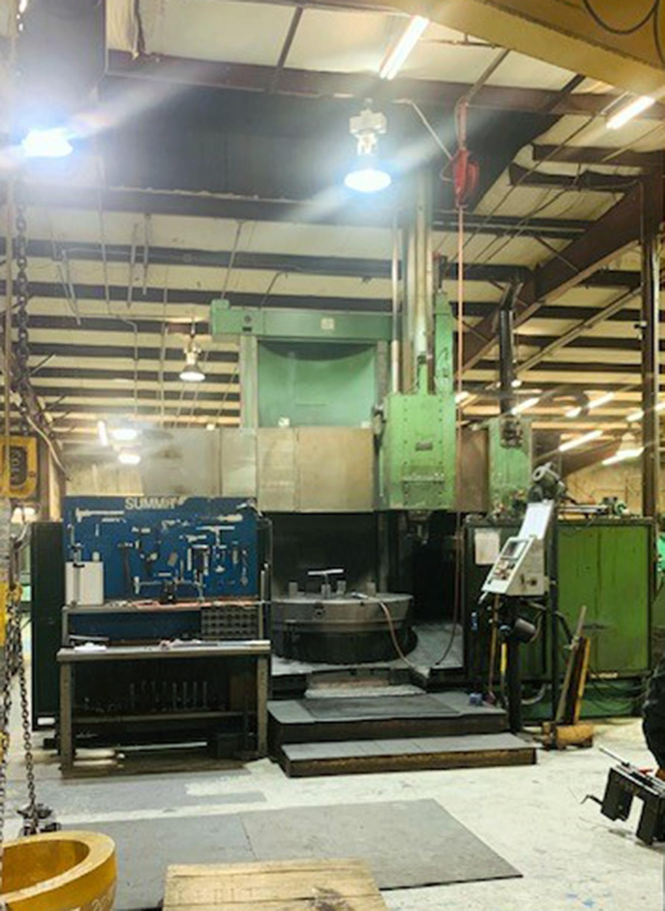 "USED, 57"" SUMMIT MODEL 60 VTL CNC VERTICAL BORING MILL"