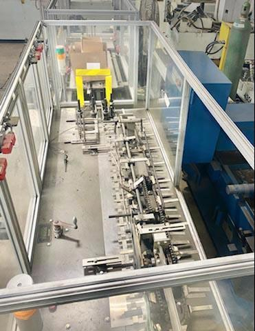 BIVANS 82 TOP CLOSER CARTONER, Automatically Top Closes Cartons, Speed Ranges from 5 to 60 cpm, Power Conveyor Included.