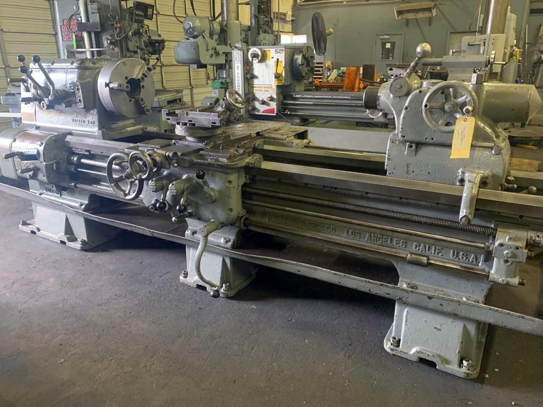 "USED, 27"" X 72"" AXELSON ENGINE LATHE"