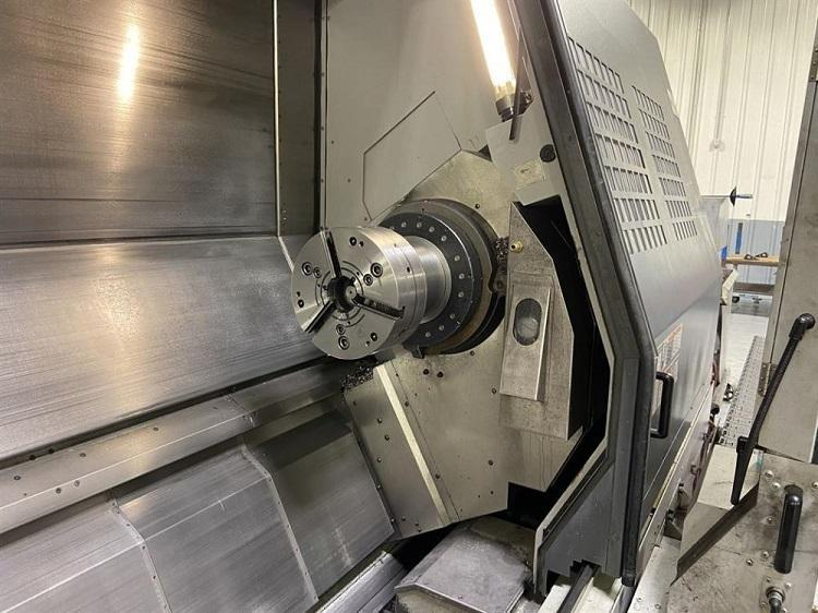 "MORI SEIKI MT3500S/3500, Mori MSX-501 (Fanuc 18iTB) CNC Control, MAPPS Software, (2) 12"" Chucks, 35"" Swing, 125"" Centers, Main Spindle 3000 RPM, Sub-Spindle 4000 RPM, Milling Spindle 8000 RPM, B-Axis, C-Axis, Y-Axis, 120 ATC, TSC, New 2006."