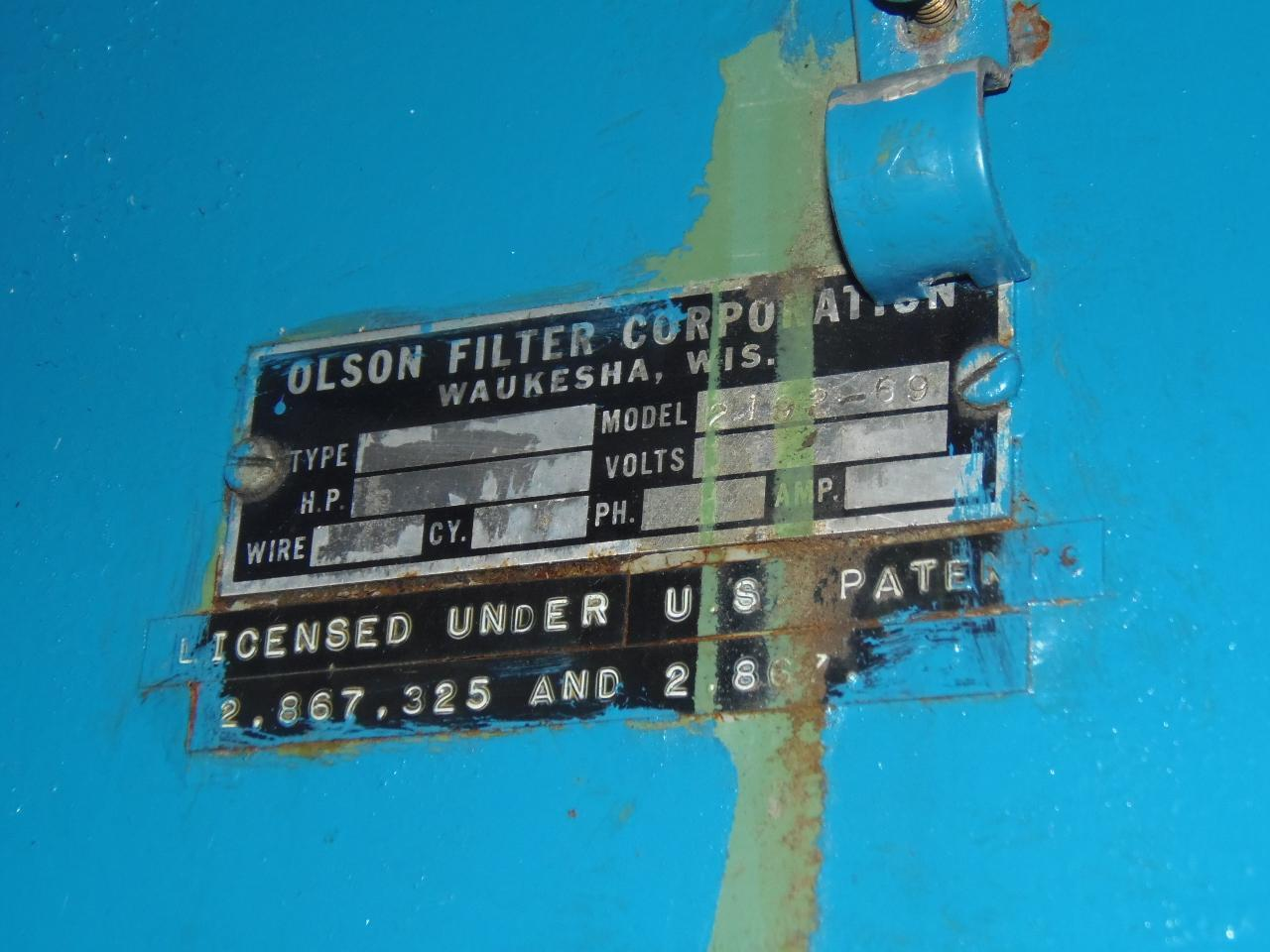 OLSON FILTRATION SYSTEM WITH PAPER FILTER
