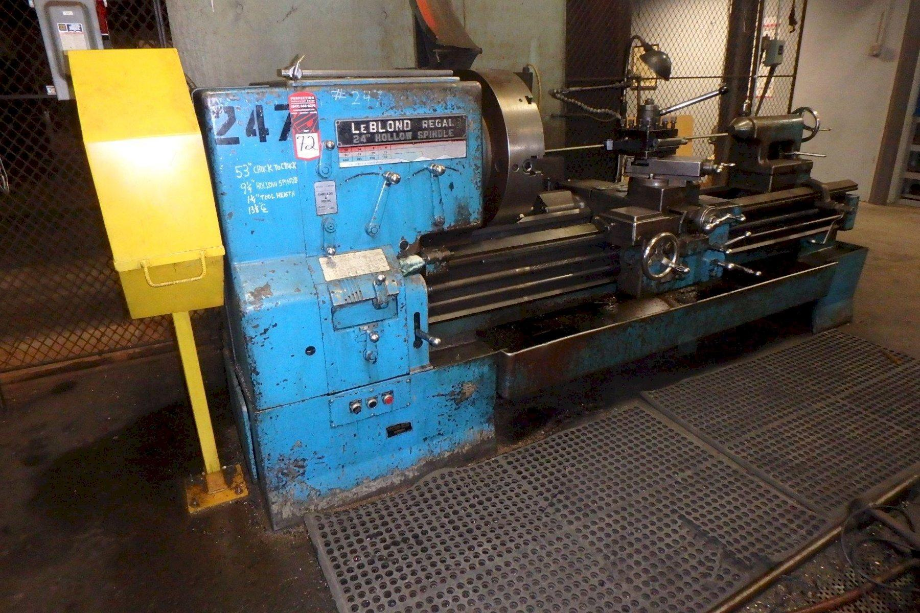 "28"" X 60"" LEBLOND HOLLOW SPINDLE ENGINE LATHE: STOCK #73751"