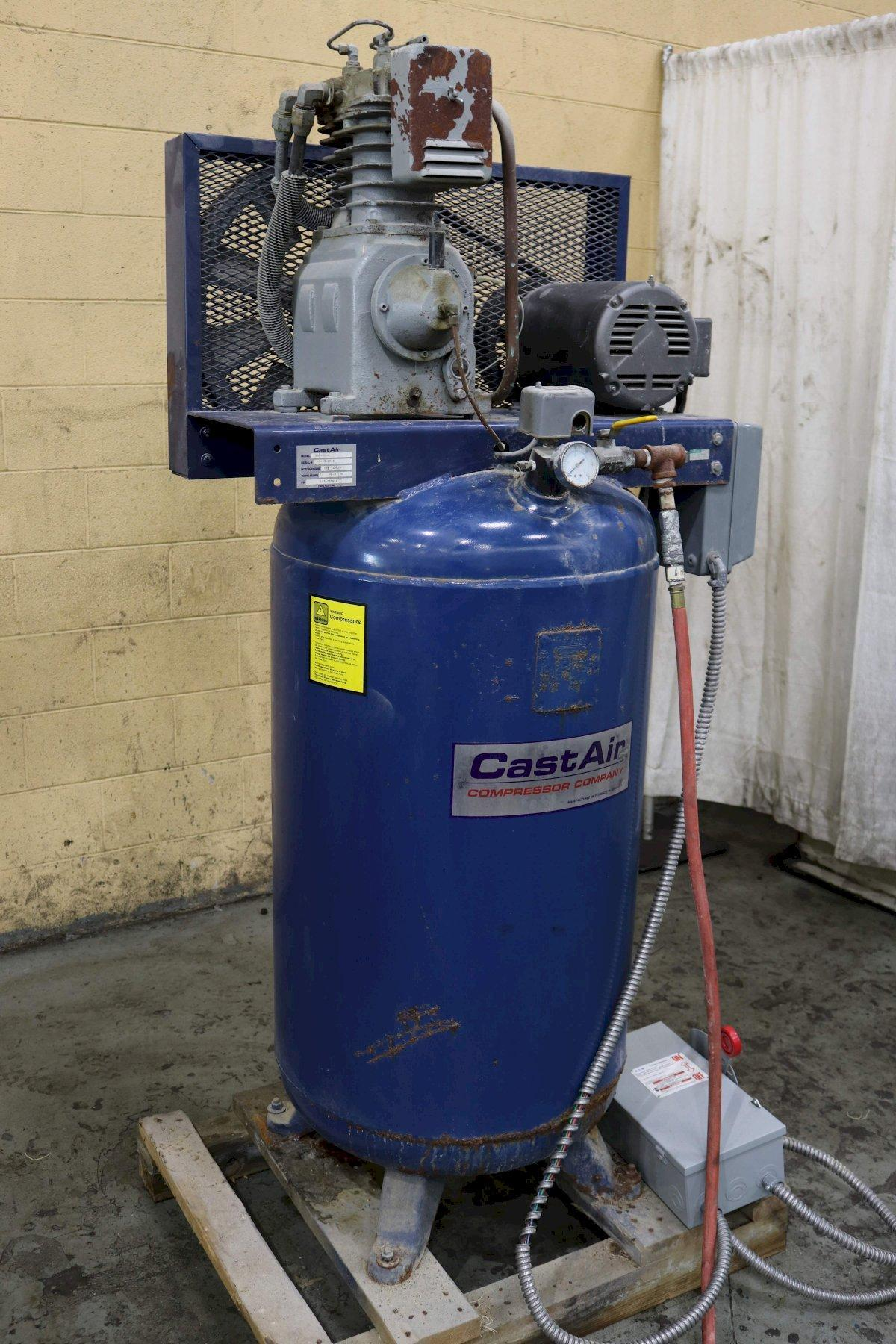 5 HP CAST AIR COMPRESSOR COMPANY AIR COMPRESSOR: STOCK 73346