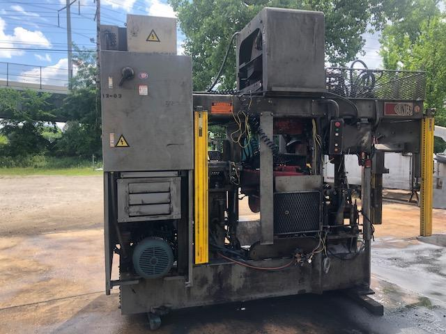 "2000 hunter model hmp10h automatic molding machine s/n 2000mph1182, 14"" x 19"" std, with GE Fanuc 90-30 plc controls, pattern plates, box of spare parts, and manuals"