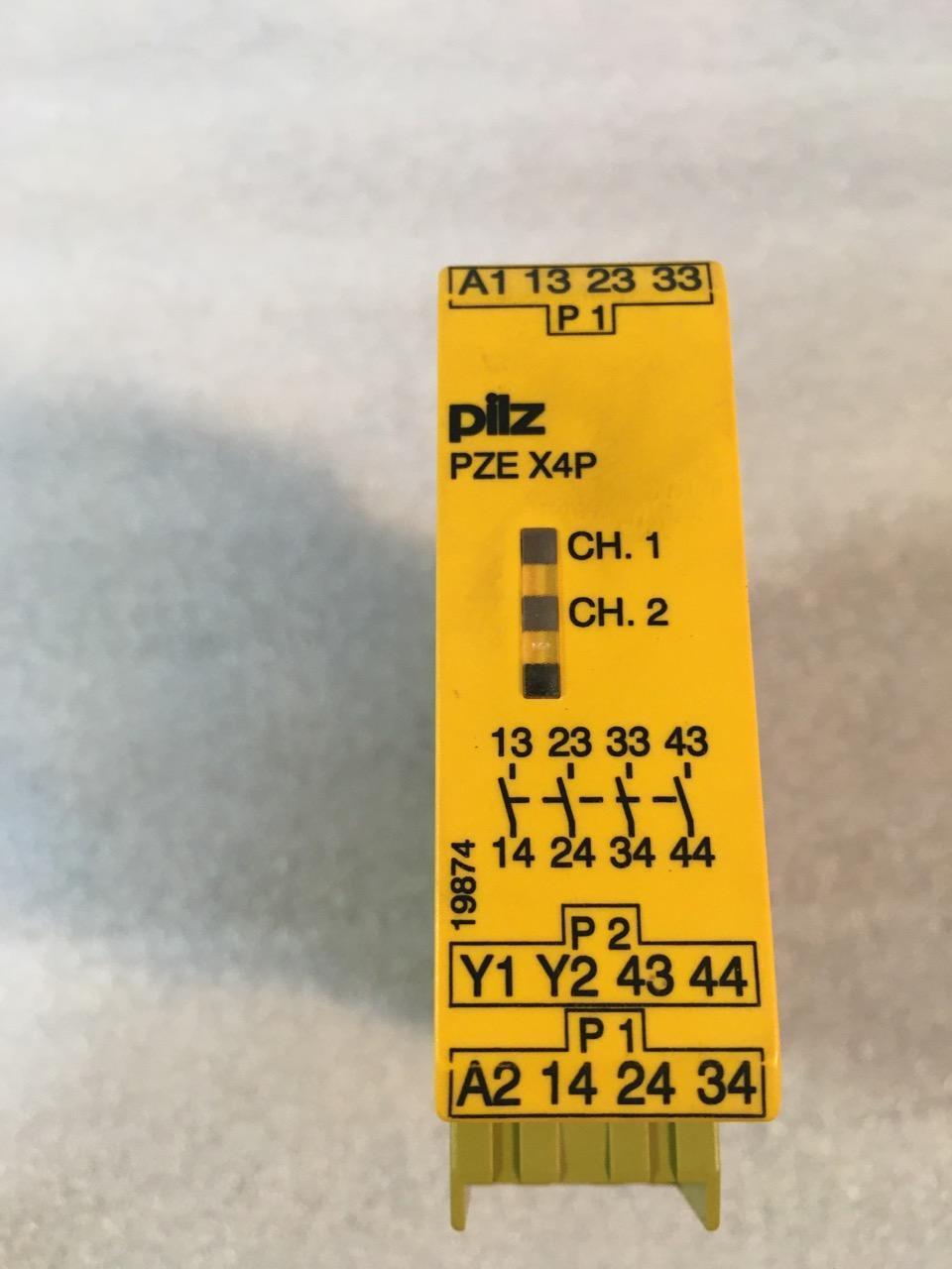 PILZ PZE X4P SAFETY RELAY, 777585, 24 VDC, 4N/O, 2W.