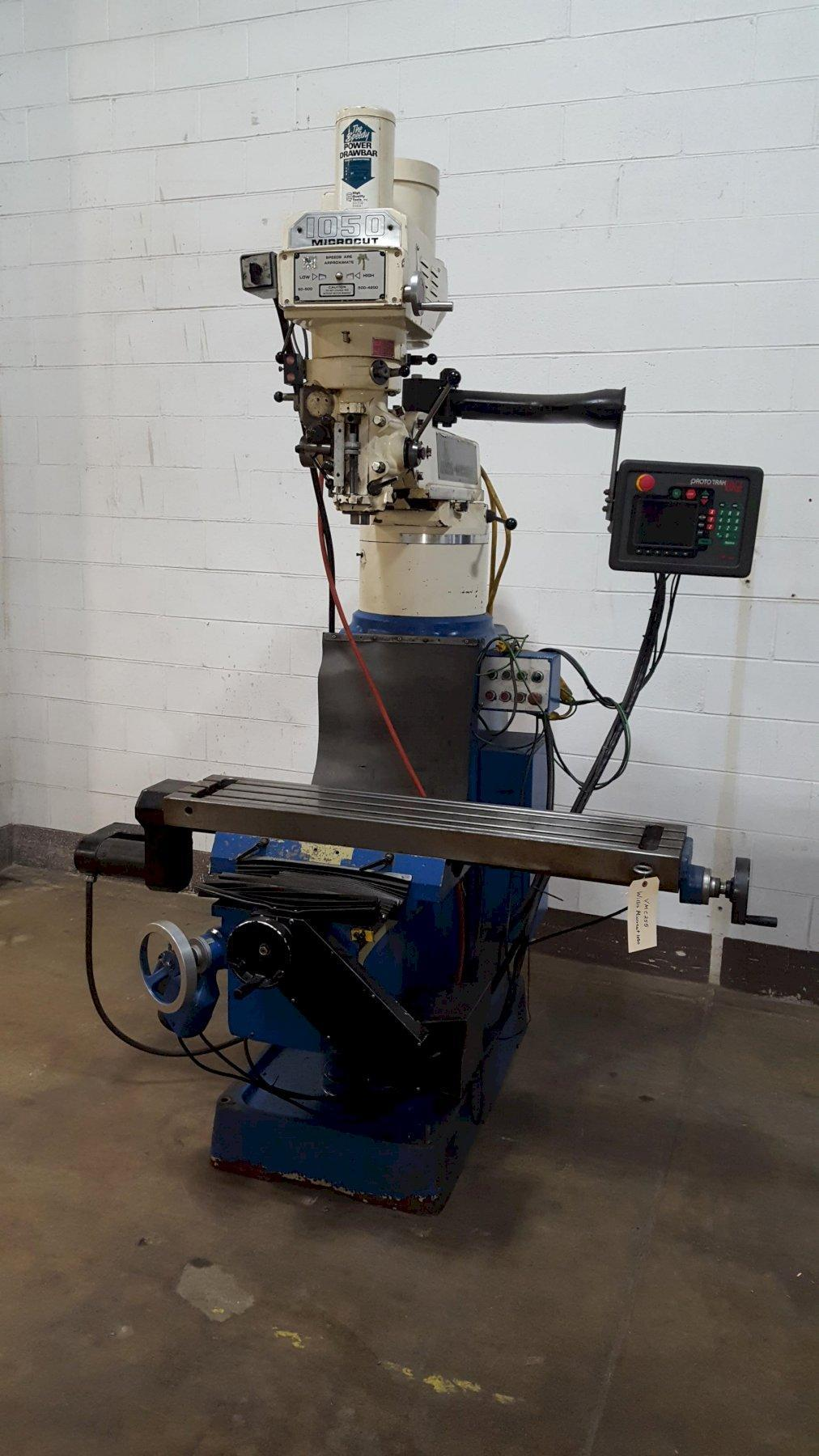 Willis (Bridgeport type) Model 1050 II CNC Vertical  Mill with Southwest Industries SWI Prototrak Edge CNC Teach Controls.