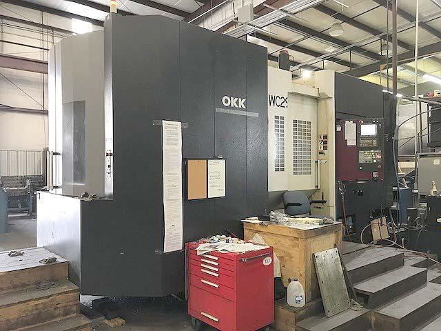 "OKK HM-1000S CNC HORIZONTAL MACHINING CENTER, Fanuc 31i CNC Control, X=55"", Y=43"", Z=39"", (2) 40"" Pallets, Full Contouring 4th Axis, 60 ATC, TSC, 12000 RPM, New 2012."