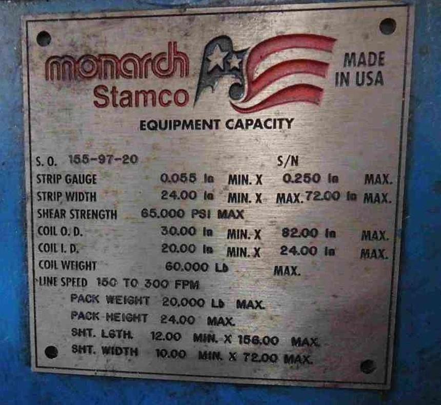 "0.250"" x 6' Stamco Hi Speed Shear"