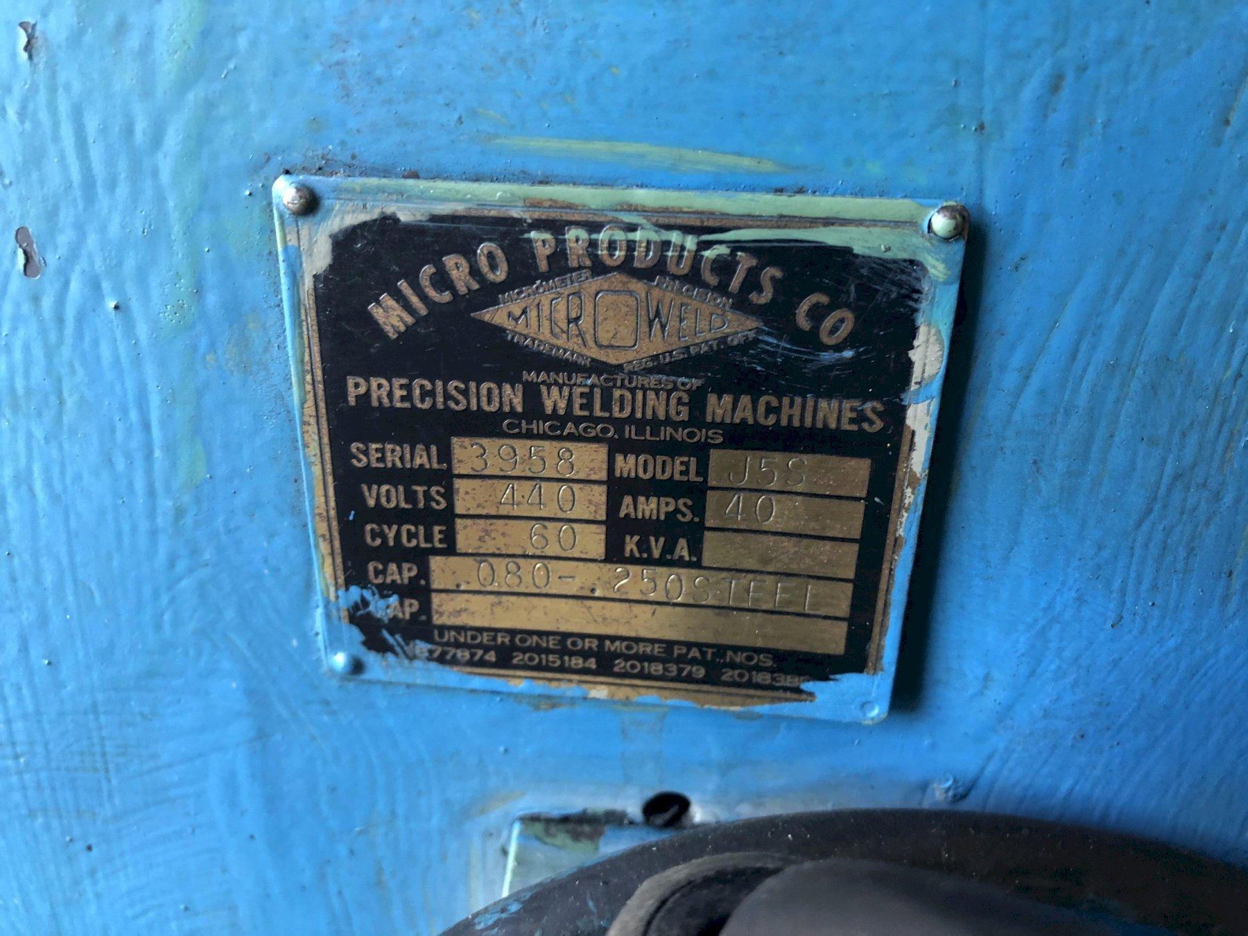 """.060"""" - .250"""" Microweld J5S Butt Welder"""