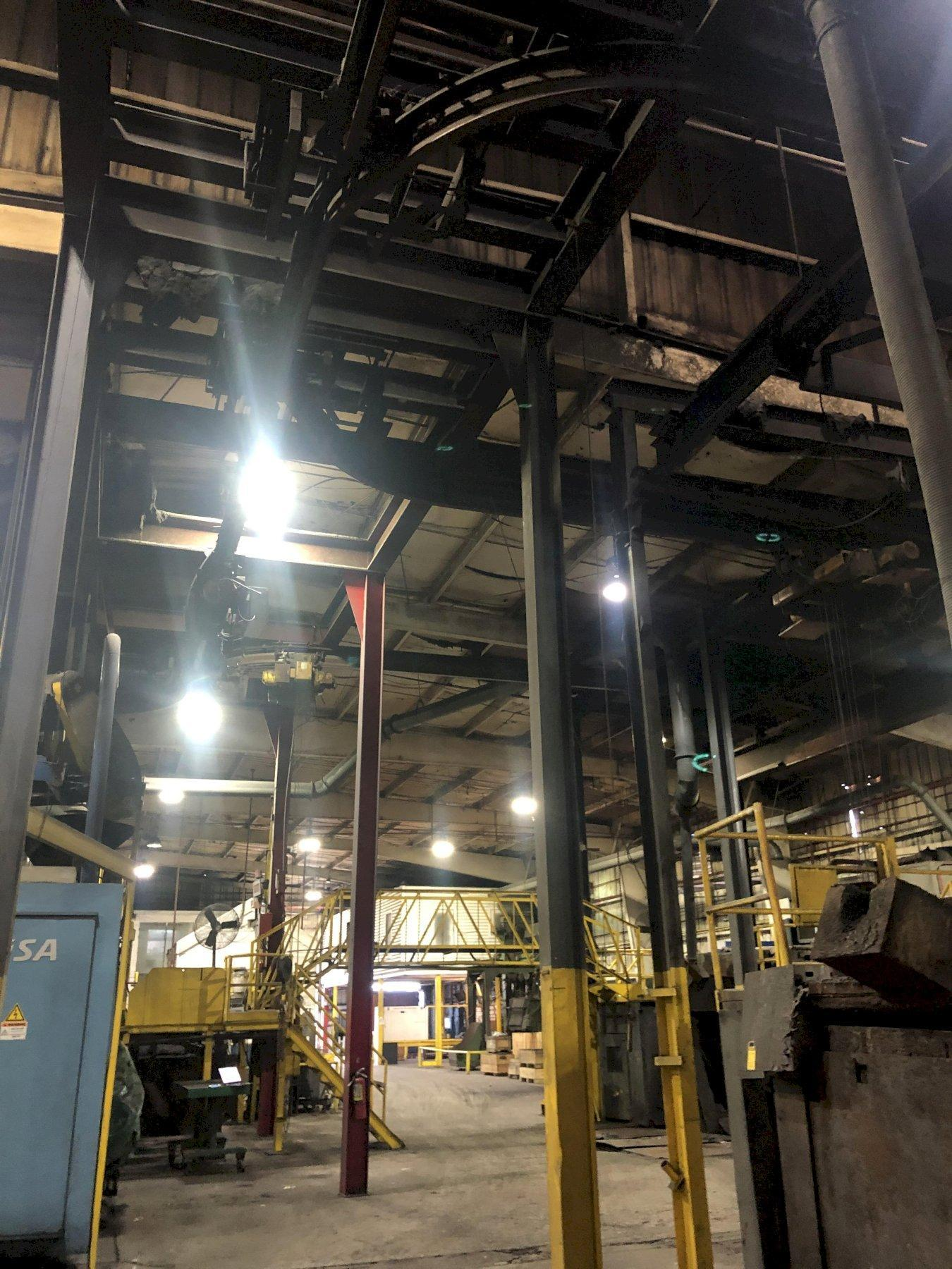 MONORAIL SYSTEM FOR THE HOT METAL HOISTS