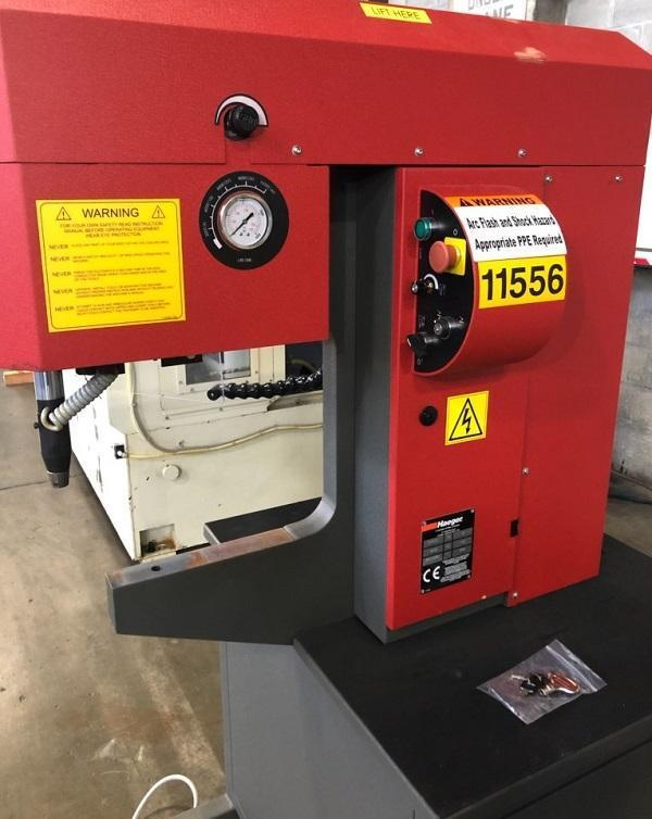 "HAEGER HARDWARE INSERTION MACHINE, Model 516-110, 10-250 LB Range of Force, 16"" Throat, 6"" Stroke, Single Phase, New 2015."