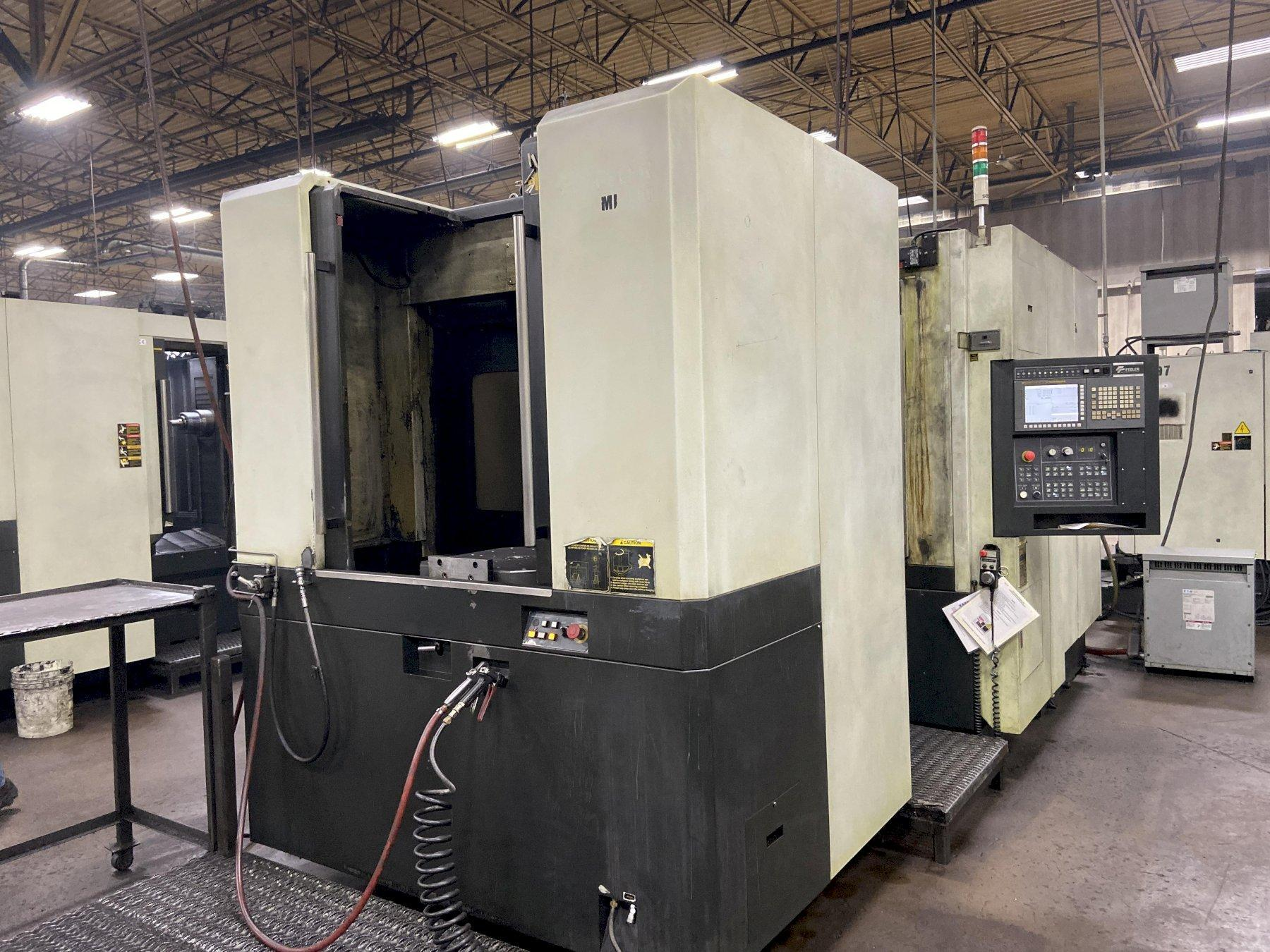 """Feeler FMH-500 CNC Horizontal Machining Center, Fanuc 31i, 19.68"""" Pallets, 27""""/26""""/26"""" Travels, 12K Spindle, CAT-40, 40 ATC, Full 4th Axis, Coolant Thru Spindle, 2012"""