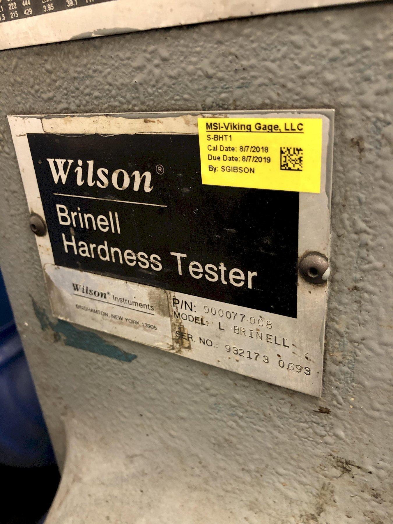 WILSON MODEL L BRINELL TESTER S/N 932173-0693, 5000 KG