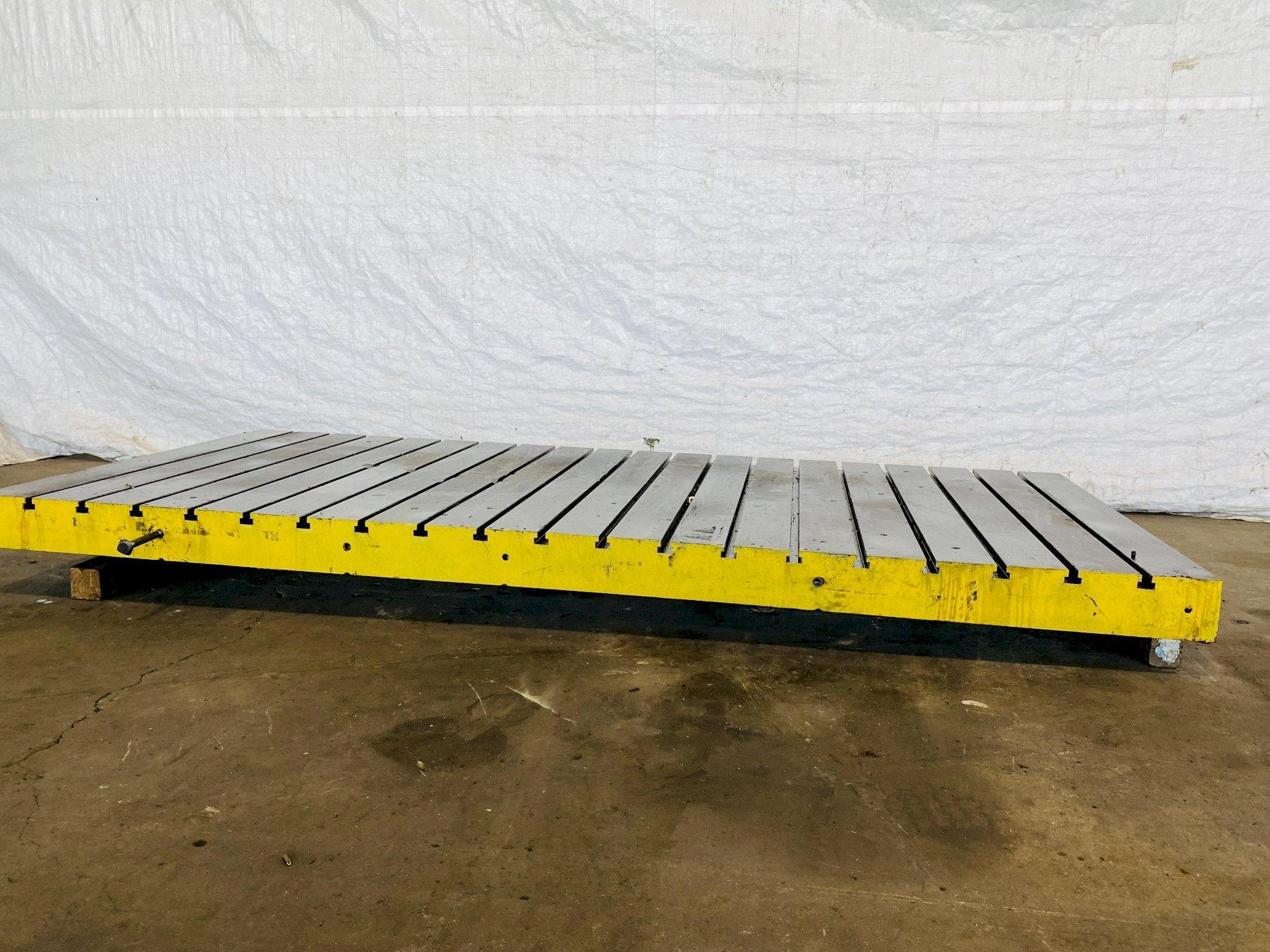 """120"""" X 54"""" X 5.5"""" T-SLOTTED BOLSTER PLATE. STOCK # 0848421"""