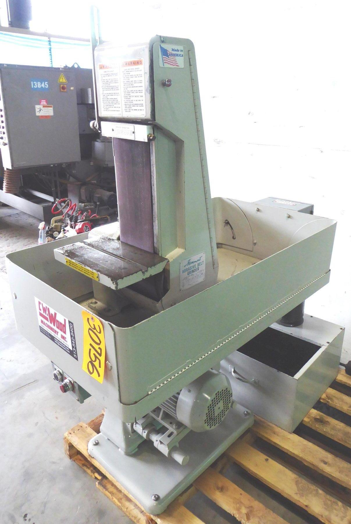 6″ Hammond Belt Grinder No. VH-600-W, Vertical/Horizontal, Coolant, 5 HP, Excellent