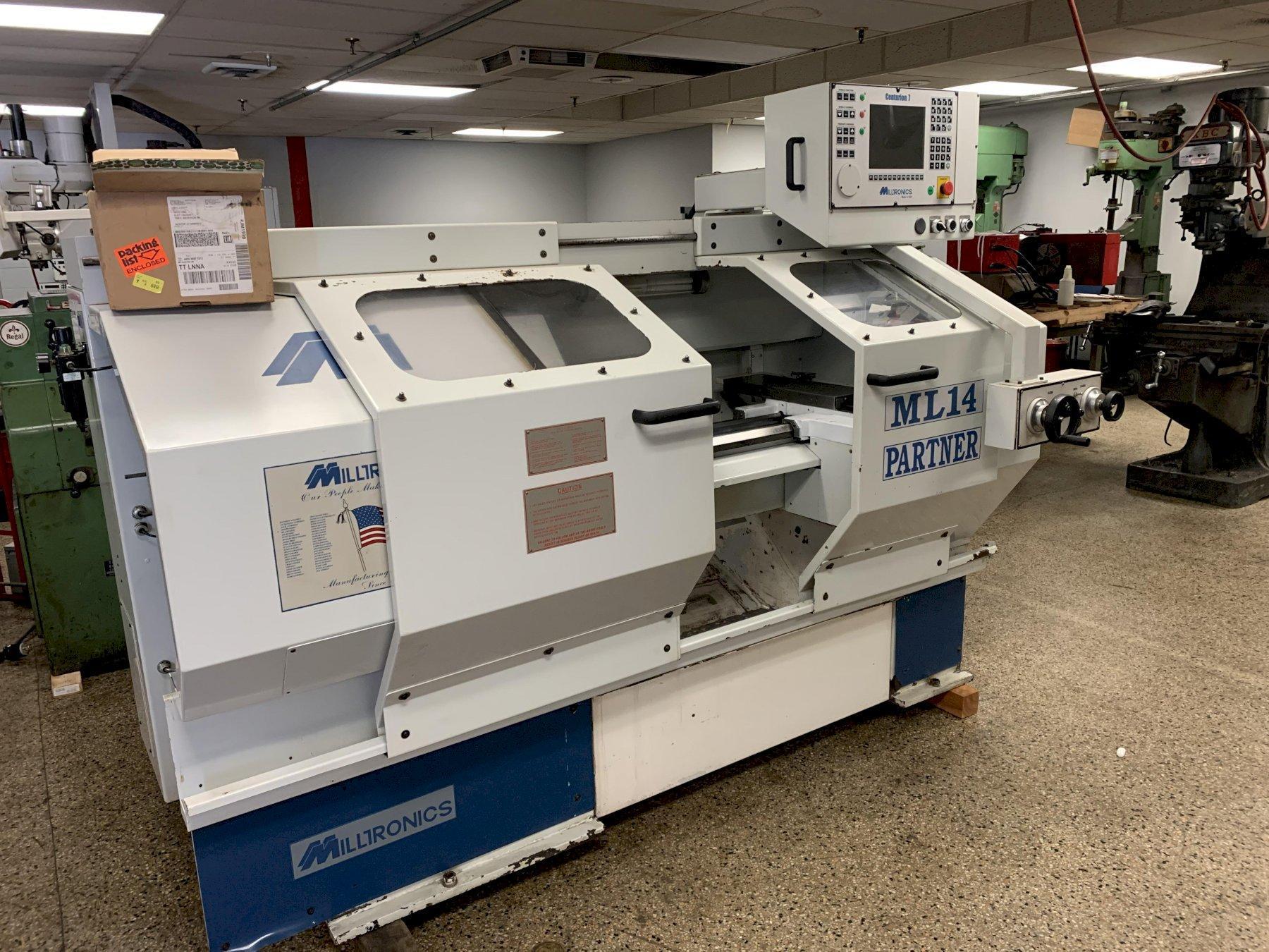 Milltronics Model ML-14 CNC Flat Bed Lathe, S/N 8212, New 2004.