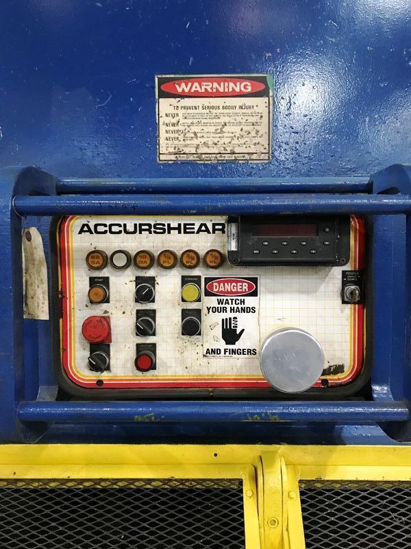 """1/2"""" X 16' ACCURSHEAR MODEL 850016 HYDRAULIC PLATE SHEAR"""