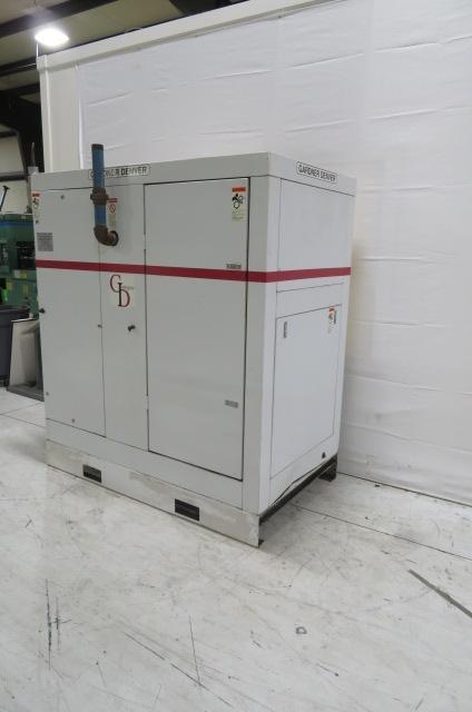 Gardner Denver Used EFE99A Air Cooled Compressor with Dryer, 75hp, 460V