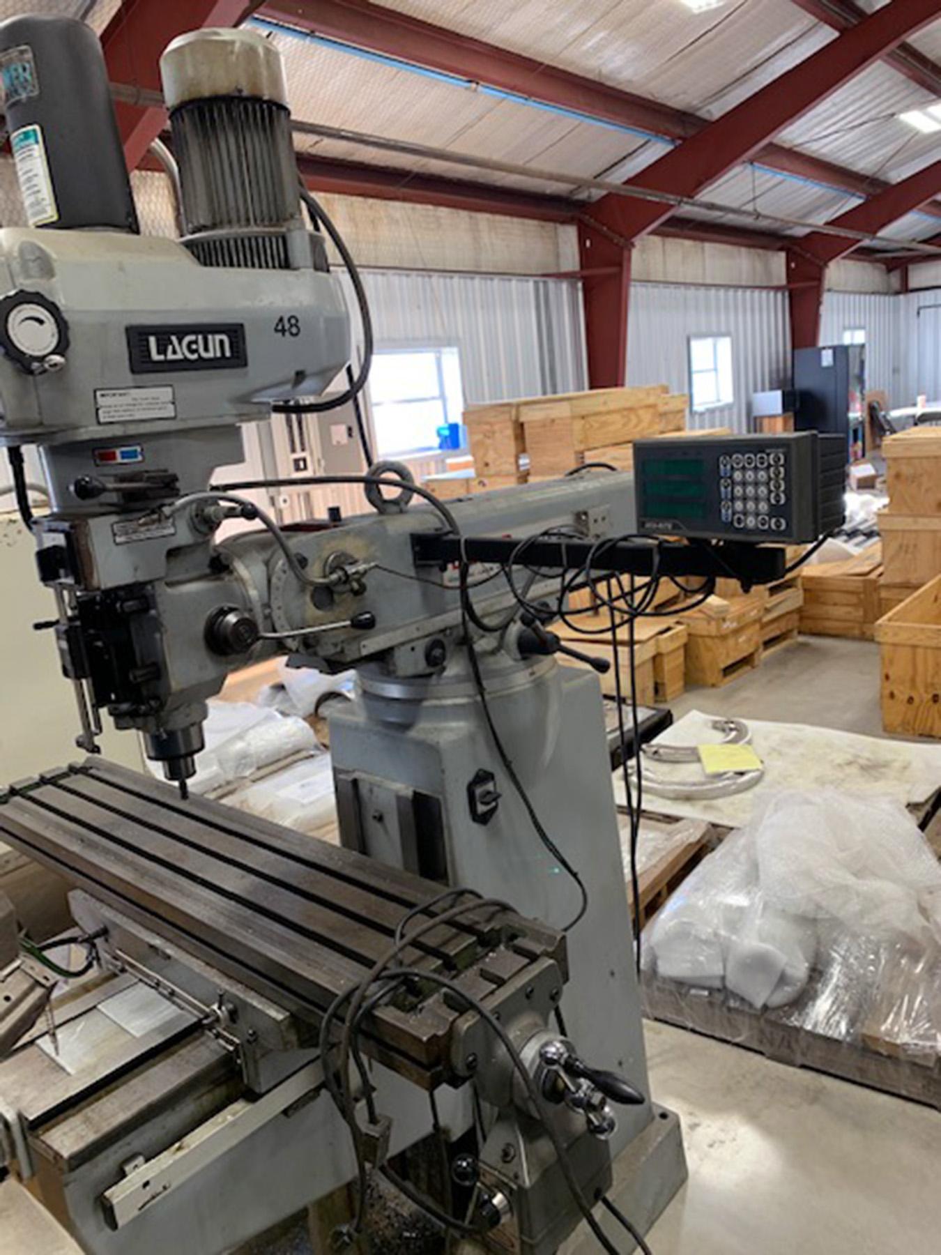 USED, LAGUN MODEL FTV-2 VERTICAL MILLING MACHINE