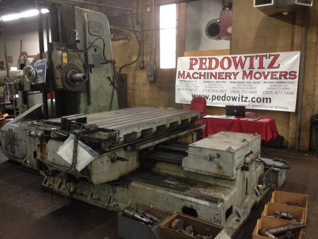 5' LUCAS HORIZONTAL BORING MILL: STOCK #65650