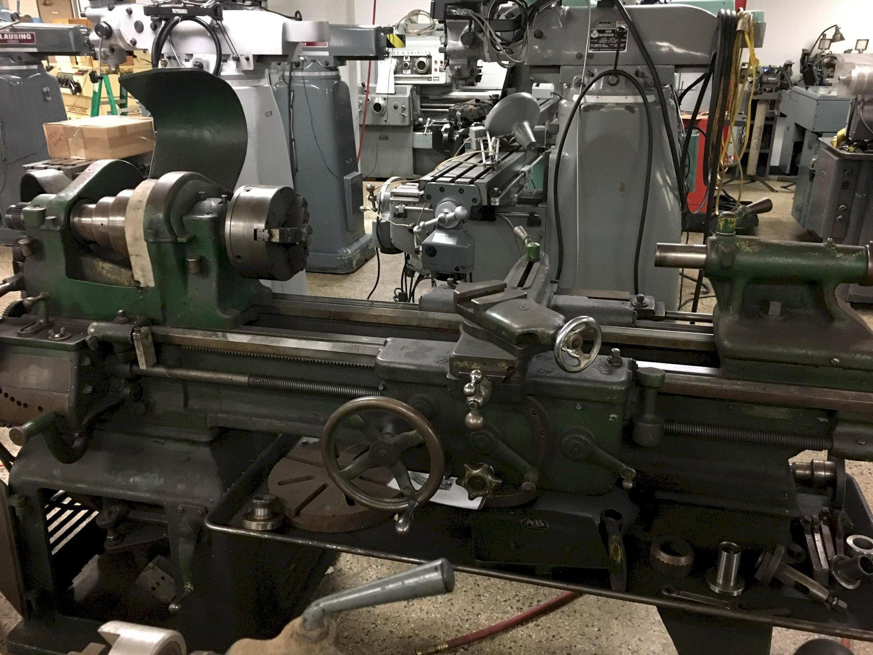 "16"" x 34"" SOUTH BEND Lathe, S/N 139162. New 1940s."