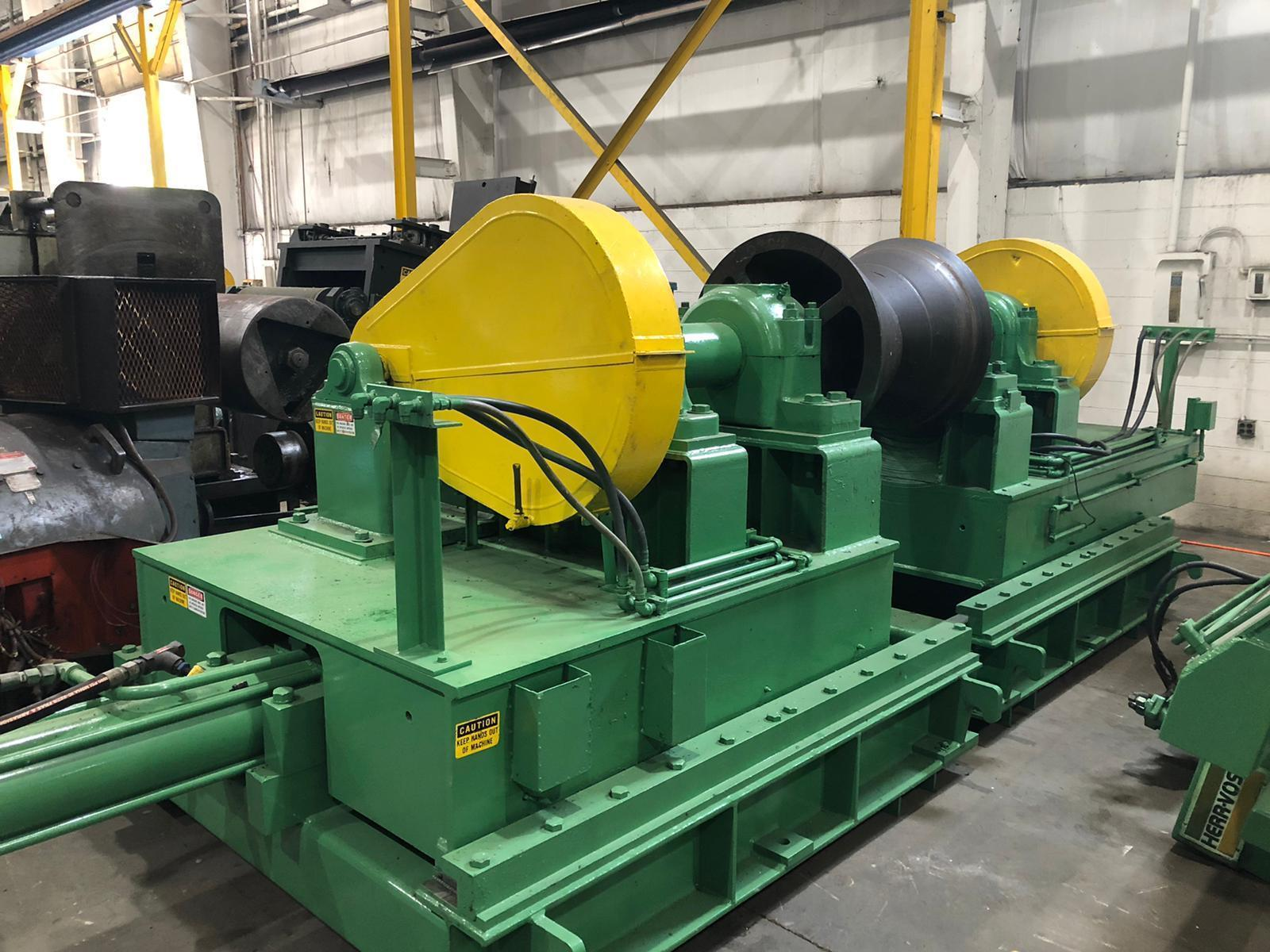 """72"""" x 60,000# Herr Voss Uncoiler with Coil Car and Peeler Hold Down Roll"""