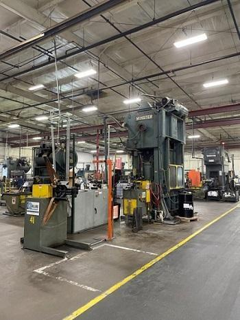 150 Ton Minster Hevi-Stamper Press With Dallas Servo Feed Line   Our stock number: 114997