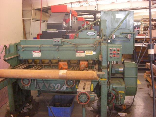 10 Ga. x 52″ Wysong Power Squaring Shear No. 1052, Mech., 36″ FOPBG, Front Gauge, Sq. Arm, 5 HP, Clean