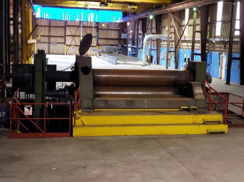"""Bertsch 30 12' x 2.5"""" 3 Roll Plate Roll"""