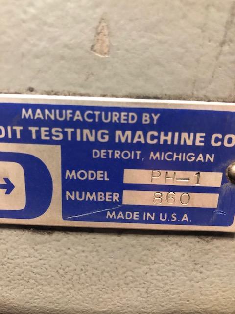 Detroit model PH1 brinell tester s/n 860