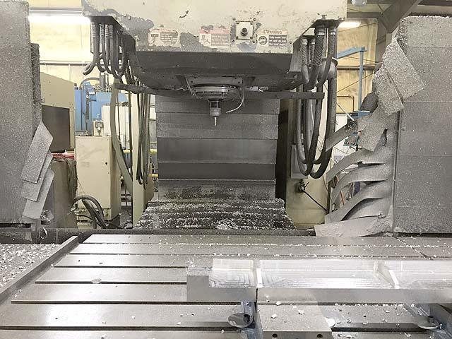 """SNK FSP-120V 5-Axis Profiler, Fanuc 16M CNC, 125"""" x 48"""" Table, X=120"""",Y=50"""", Z=24"""", A&B Tilt Swivel Spindle, 50-Taper, 10000 RPM, 24 Station Tool Changer, 1999."""